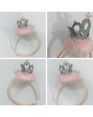 Adorable Crown Sequined Headband for Girls (1-3 Year)