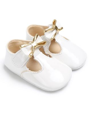 Baby Girl Pretty Bowknot Decor White Party Shoes