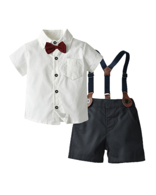 [18% OFF] Baby Boy Toddler Formal Bow Tie Wedding Birthday Summer Suit (WITHOUT SUSPENDER)