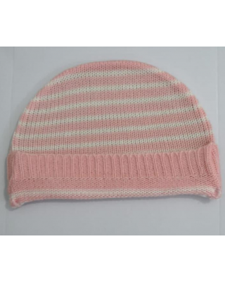 Newborn Baby Imported Knitted Winter Light Pink Hat