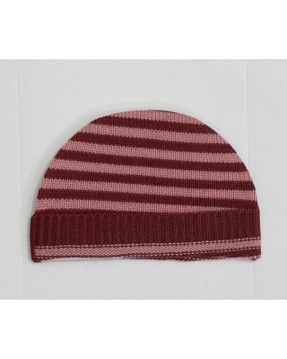 Newborn Baby Imported Knitted Winter Maroon Hat