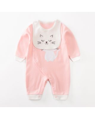 2-piece Baby Stylish Jumpsuit and Bib Set