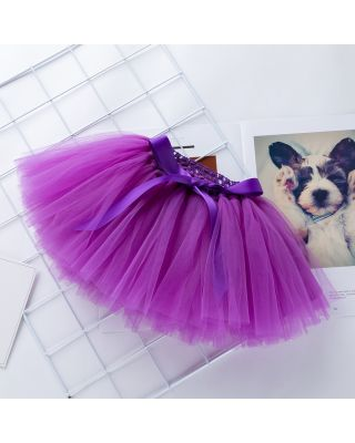 Baby Girl's Solid Tulle Skirt in Purple for 1 to 2 Years