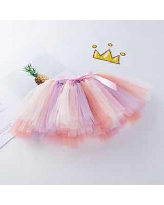 Pretty Light Multicolour BowknotDecor Tulle Skirt for 1 to 2 Year Old