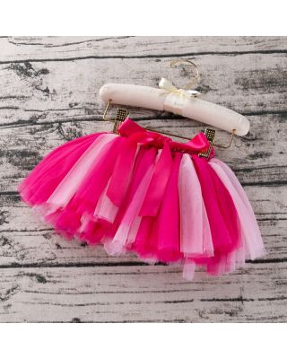 Pretty Bowknot Decor Tulle Skirt in Rose Pink for 1 to 2 Year Old