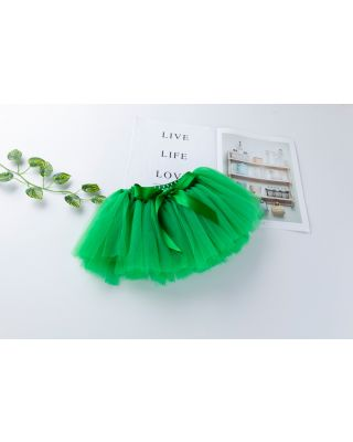 Baby Girl's Solid Tulle Skirt in Green for 1 to 2 Year