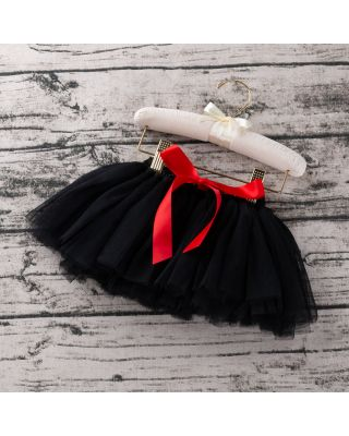 Baby Girl's Solid Tulle Skirt in Black for 1 to 2 year