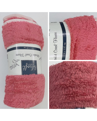 Newborn Baby Swaddle Rose-Pink Blanket Coral Fleece for Winter