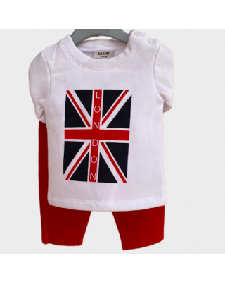 2-Piece Baby Infant Clothing Set London Shirt & Pant Set for Winter