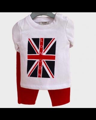 2-Piece Baby Infant Clothing Set London Shirt & Pant Set for Winter