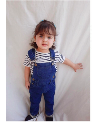 Boy/Girl Stylish Pocket front Plain Casual Denim Dungaree Overalls (1Year - 9Year)
