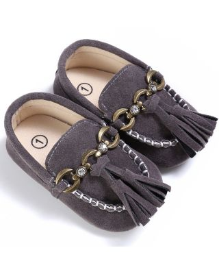 Baby Boy Birthday Tassel Decorated Party Grey Shoes