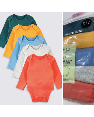 Pack of 5-Bodysuits Marks & Spencer for PREEMIE Baby