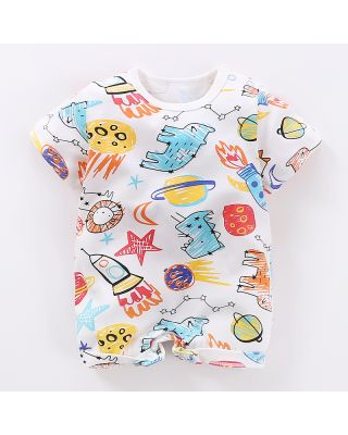 Stylish Cartoons Print Romper for Baby (0-12 Months)