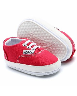 Baby Girl Canvas Comfortable Fit Shoes in Red ( 0 - 18 Month )