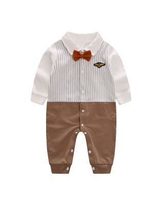 Bow Tie Striped Jumpsuit for Baby Boy (0-18 Months)