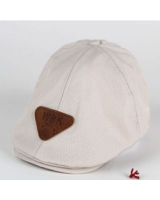 Baby / Toddler Formal Flat Cream Color Hat (9 Month - 3 Years)