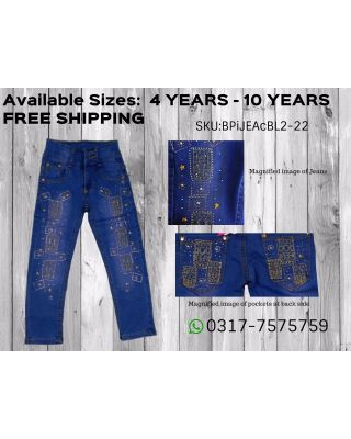 Baby Girl/Toddler Embroidered Denim Pant