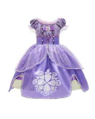 Toddler Girl Beads Embroidery Mesh Layered Princess Sofia Party Wear Frock